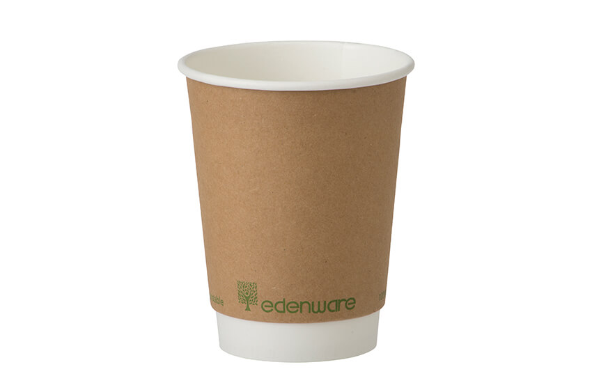 Double wall coffee cup (Kraft)