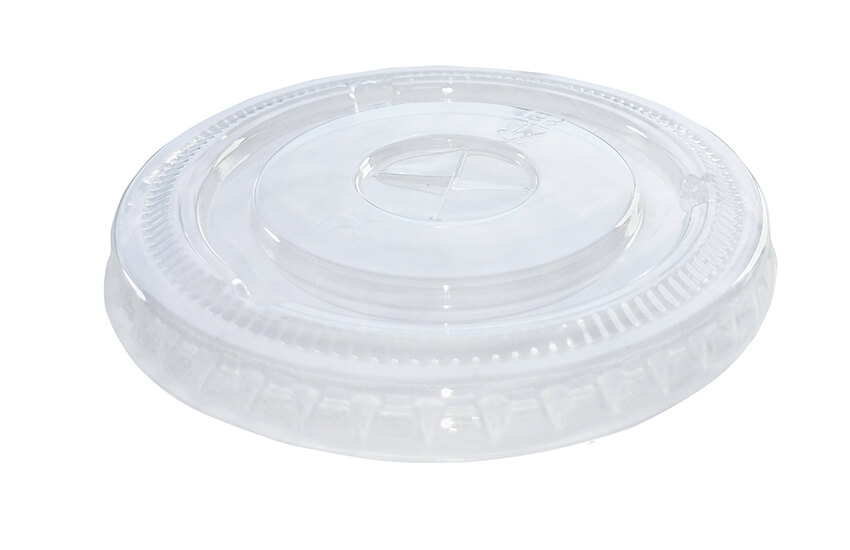 A10014 7oz PET Flat Lid (Straw Slot)