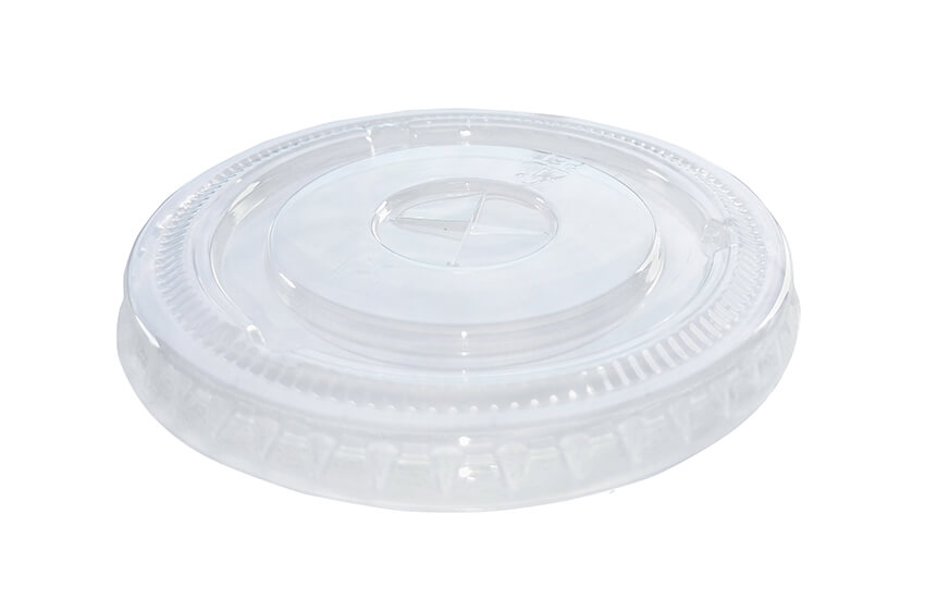 A10016 9oz PET Flat Lid (Straw Slot)