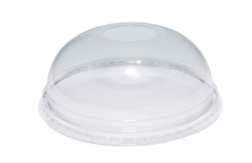 A10052 9oz PET Domed Lid (With hole)