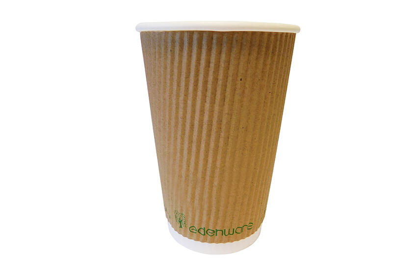 16oz Triple Wall Ripple Cup (Kraft)