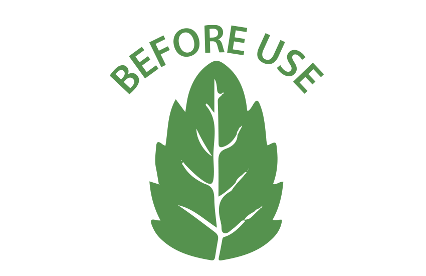 Before use