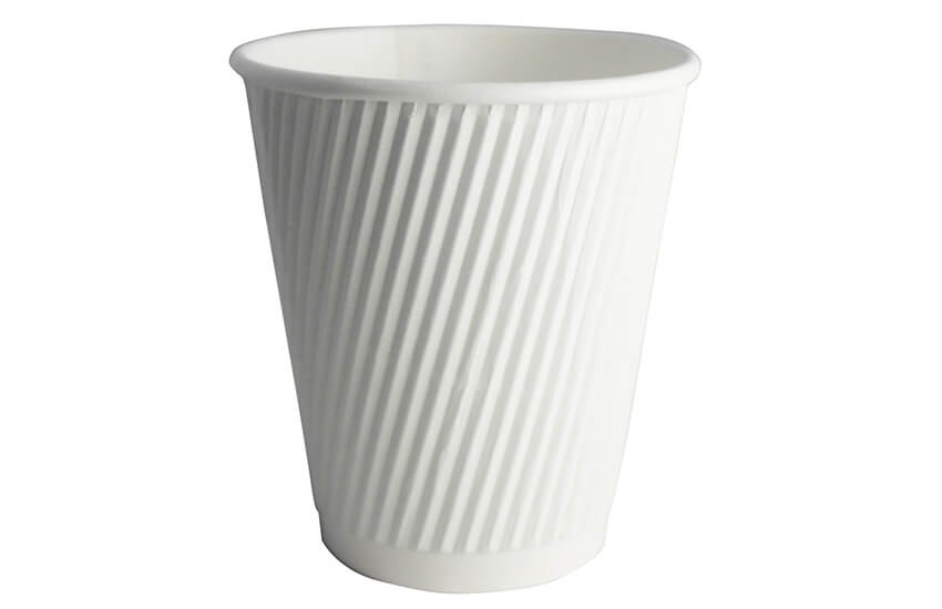 D02022 8oz Ripple Cup White