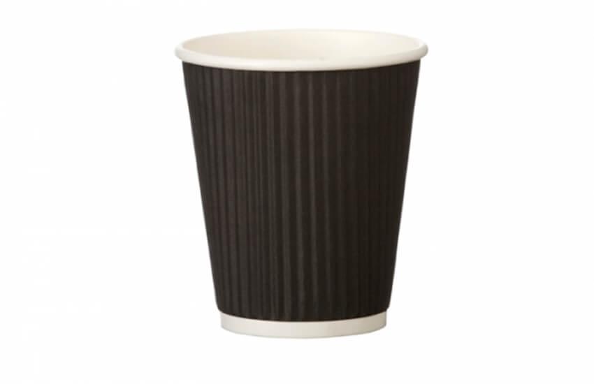D02032 8oz Ripple Cup (black)