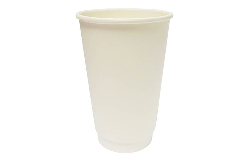 D04024 16oz double wall coffee cup White