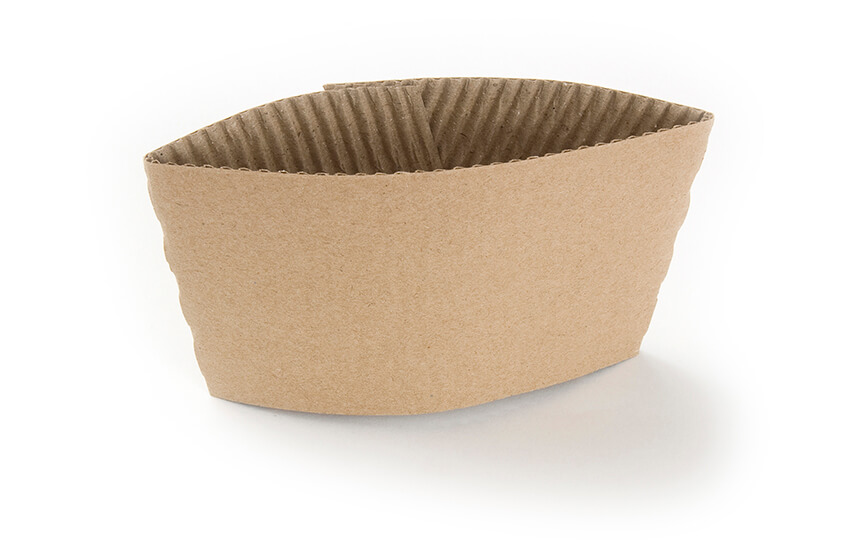D08013 12-16oz Coffee Cup Clutch (kraft)