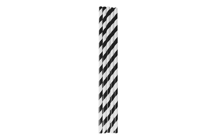 D22003 Black Striped Straw