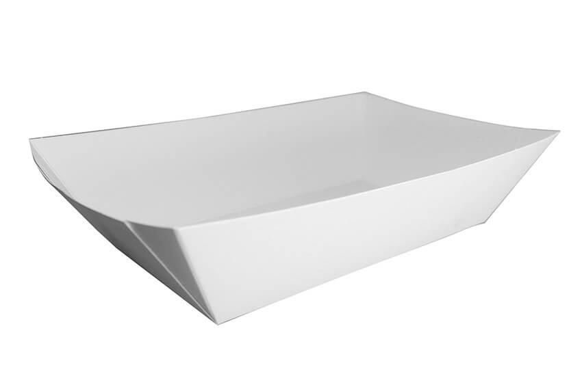 D40025 5lbs Corner Seal Tray White