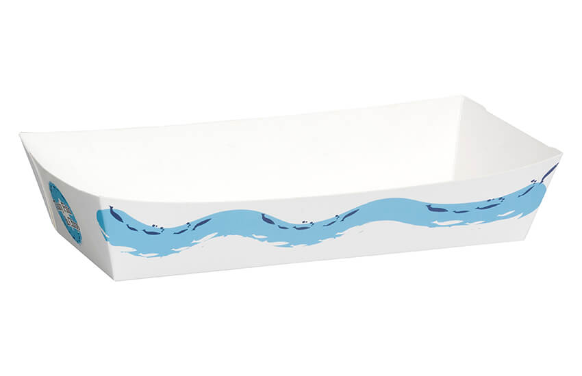 D40210 Large Tasty Fish & Chip Tray (500pk)