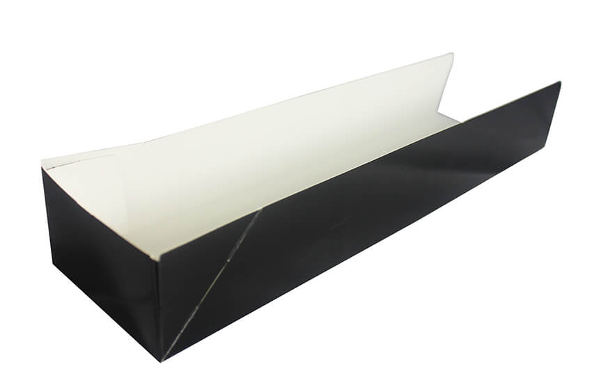 D42017 Open Ended Hotdog Tray Black