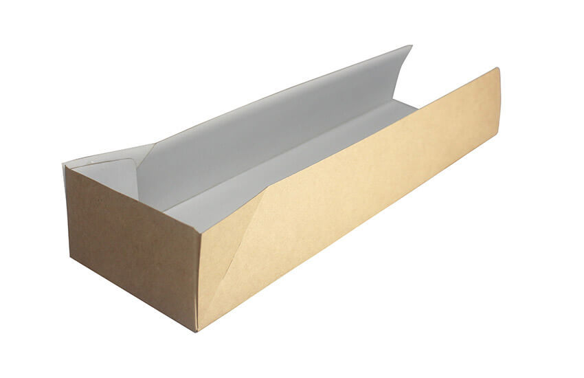 D42117 Open Ended Hotdog Tray Kraft