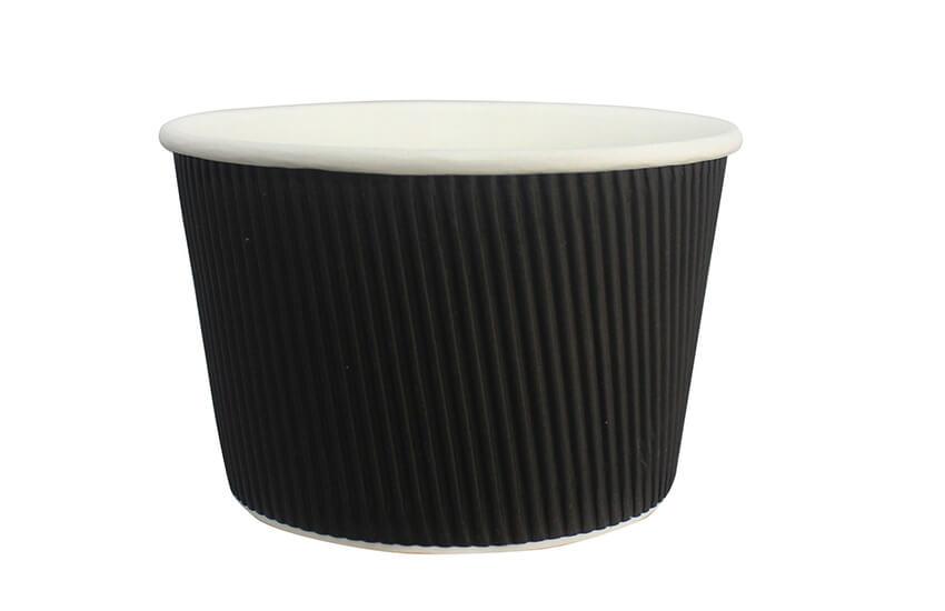 D43031 16oz Squate Ripple Pot Black