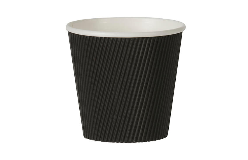 D43033 19oz Large Ripple Pot (Black)