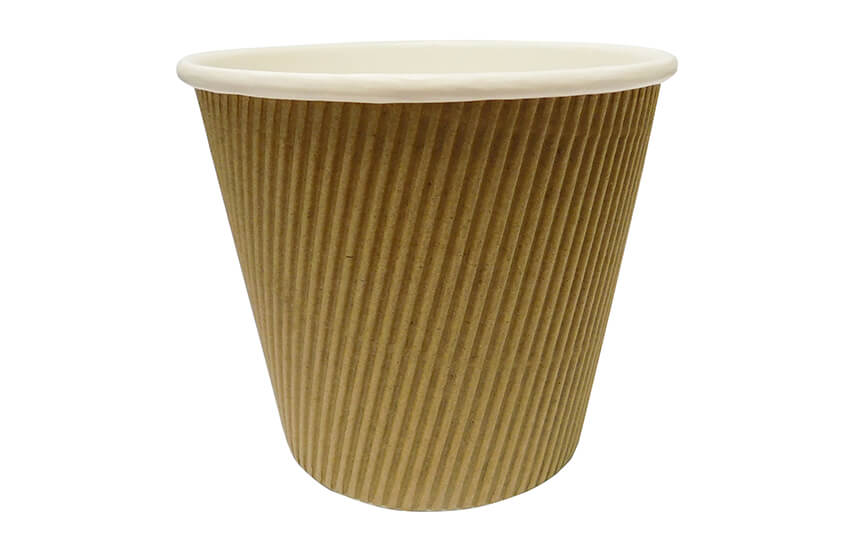 D43053 19oz Kraft Ripple Pot