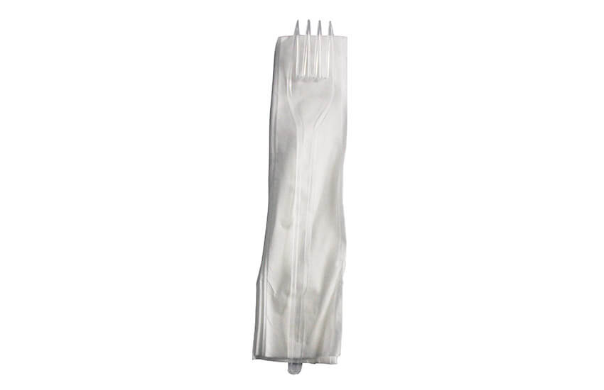M11142 Cutlery Pack Fork Napkin Clear