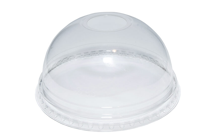 R10053 12oz rPET Domed Lid (With hole)