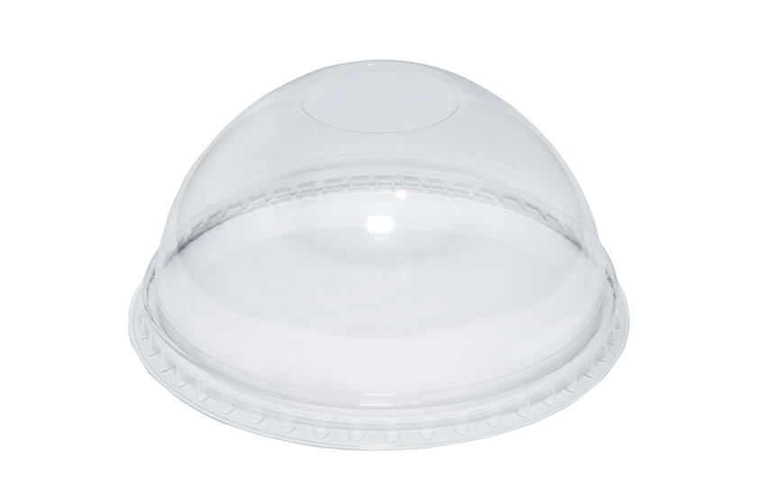 R10073 rPET Domed Lid - No Hole - Tulip