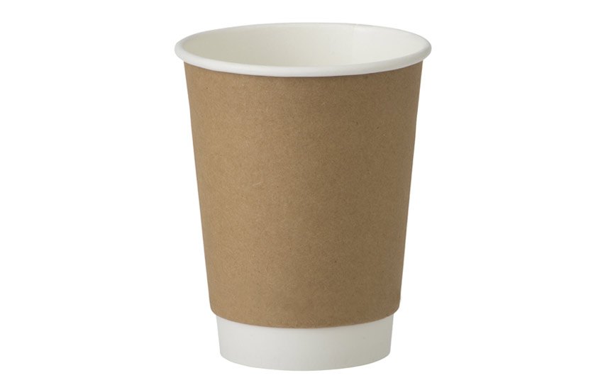 D04013 12oz Double Wall Cup Kraft Matt