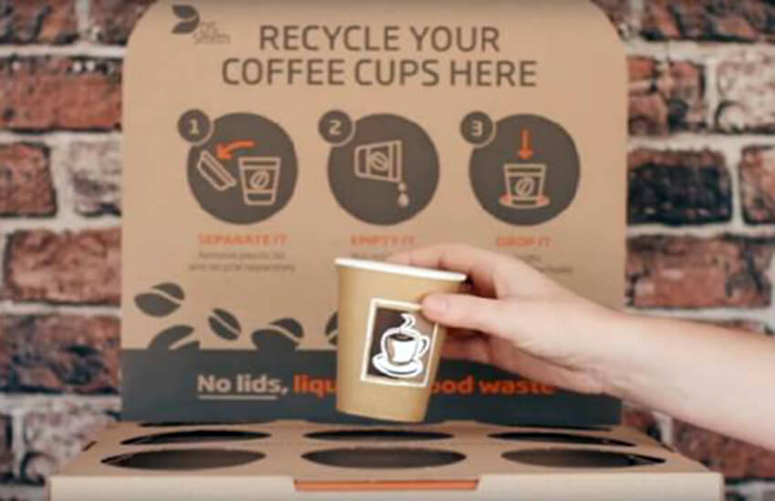 Helping recycle hundreds of millions of paper cups