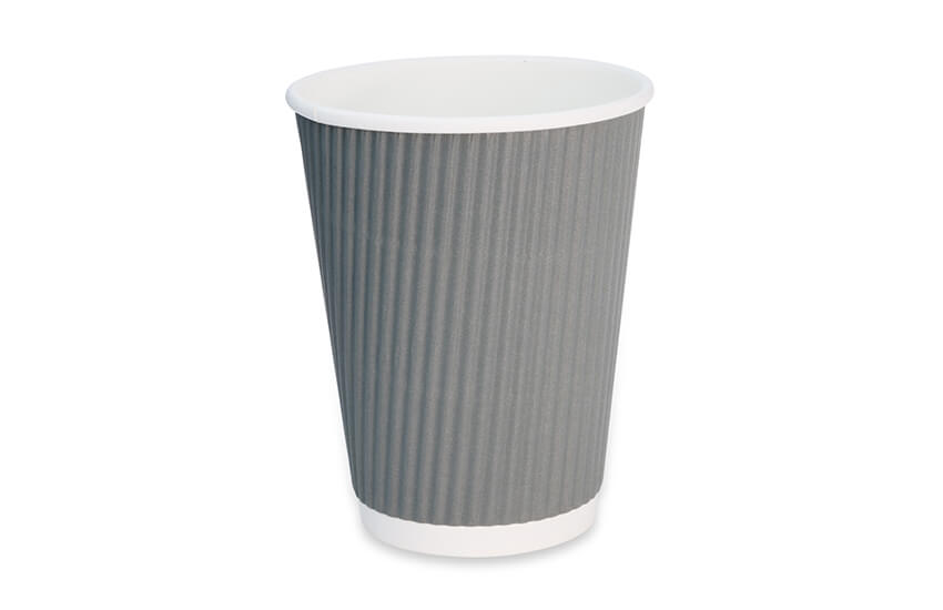 D02063 12oz Grey Signature Triple Wall Coffee Cup