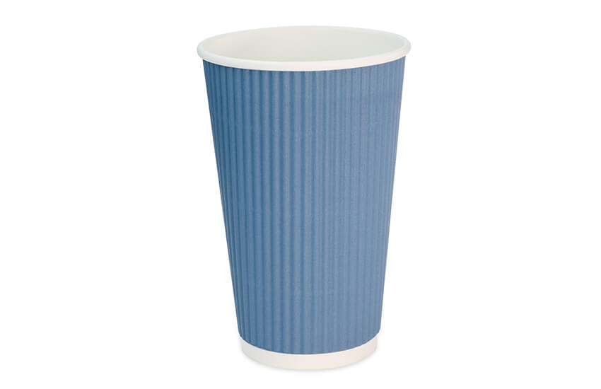 D02064 16oz Blue Signature Triple Wall Coffee Cup
