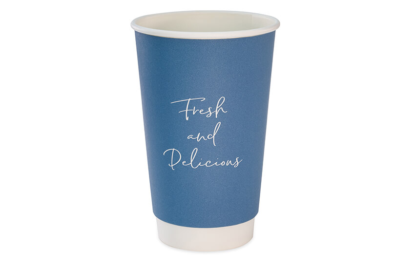 D04064 16oz Blue Signature Double Wall Coffee Cup